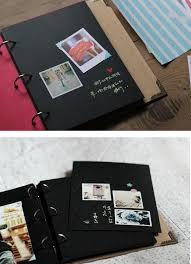 Scrapbook Binder White Brown Blue 3 Ring Binder Hardcover Scrapbook Sketchbook