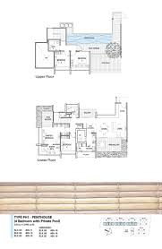 penthouse 4 bed holland residences bedroom floor plans type ph1