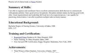 sample resume for nursing student nursing student resume sample resume graduate nursing student