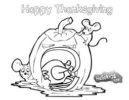 thanksgiving pumpkins coloring pages mice and a pumpkin coloring pages hellokids com
