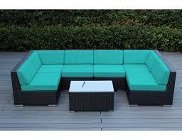Sunbrella Outdoor Patio Furniture Sunbrella Aruba With Black Wicker Ohana Wicker Furniture