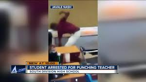 video shows milwaukee teen punching teacher abcactionnews com