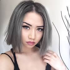 Bob Frisuren Graue Haare by Haare Grau Farben Trend
