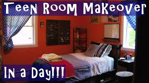 fast teen bedroom makeover in a day youtube