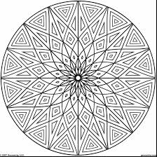 astonishing circle geometric design coloring pages with design