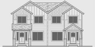 craftsman duplex house plans house plans with rear garages