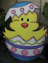 Religious Easter Yard Decorations by Easter Basket Yard Art Easter Outdoor Wood Decoration Easter