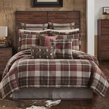 Eddie Bauer Rugged Plaid Comforter Set Cabin U0026 Rustic Bedding Sets