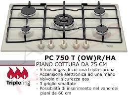 ariston piano cottura 5 fuochi piano cottura cucina tradizione 5 fuochi gas cm 75 bianco antico