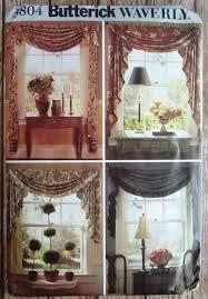 swags and jabots window treatments waverly butterick pattern 3804