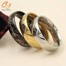 lord of the rings wedding band 1 pieces lot 100 titanium ring men wedding band rings woman lord
