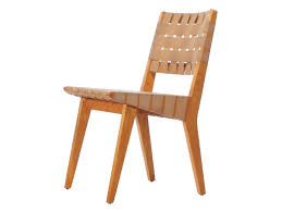 webbed birch side chair set by jens risom for sale at 1stdibs