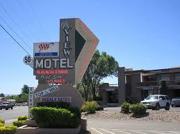 lit neon signage the view motel cottonwood az location u2026 flickr