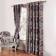Grey Curtains 90 X 90 Scatterbox Wisteria Purple And Grey Curtains 90x90 For Sale In