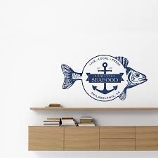 fresh seafood personalized wall decal high style wall decals