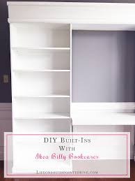 Diy Built In Desk by Diy Built Ins With Ikea Billy Bookcases One Room Challenge Week