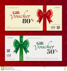 elegant christmas gift card or gift voucher template stock vector