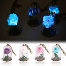 glow in the necklaces vintage glow in the jewelry luminous flower pendant necklace