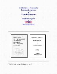guidelines to hydraulic transient analysis of pumping systems pdf