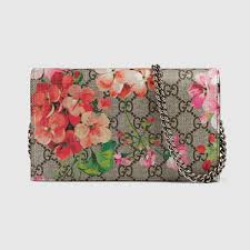 bloom wallet gucci women gg blooms supreme chain wallet 402724ku2in8693