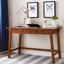Laptop Writing Desk Leick Furniture Mission Oak Wedge Corbel Laptop Writing Desk With