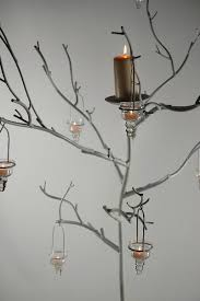 white metal display candle tree 71in event decor twig tree