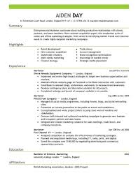 exle of a resume format resume models for marketing therpgmovie
