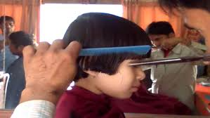 prathysha having a hair cut youtube