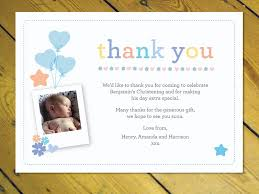 personalised thank you cards notes naming day christening birthday