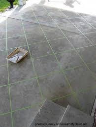 Patio Concrete Tiles Staining Concrete Floors Stained Concrete Patios Stained