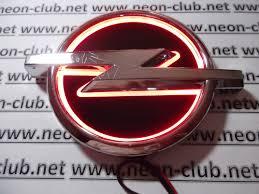 opel red 5d opel red neon logo