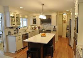 Houzz Kitchen Islands With Seating by Walnut Wood Nutmeg Glass Panel Door Galley Kitchen With Island