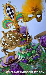 mardi gras centerpieces mardi gras tablescape and dinner for four celebrate decorate