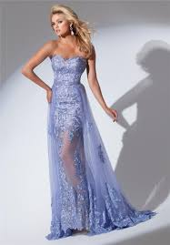 sweetheart neckline long lavender lace prom dress with belt