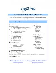 Home Remodeling Cost Estimate Template by Bathroom Remodel Frugal Bathroom Remodelling Checklist Remodeling