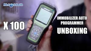 x 100 immobilizer auto key programmer unboxing mr locksmith