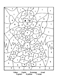 hard color by number printable worksheets free coloring pages on