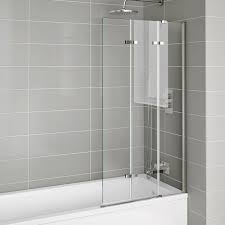 800mm luxury folding bath shower glass screen pivot door panel 800mm luxury folding bath shower glass screen pivot door panel right hand ibathuk amazon co uk kitchen home