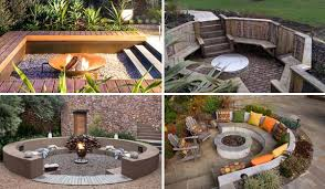Firepit Ideas 21 Awesome Sunken Pit Ideas To For Cozy Nights