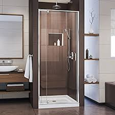 36 Shower Doors Dreamline Elegance 34 36 In Width Frameless Pivot Shower Door 3