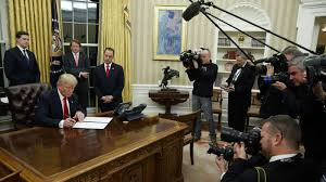 trump s desk president trump u0027s first hours in office marked by executive orders