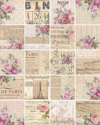chic wrapping paper instant digital downloads shabby chic wrapping paper