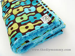 diy blanket how to sew a baby boutique blanket with cotton and minky fabric