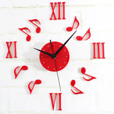 online buy wholesale musical note decoration wall clock from china