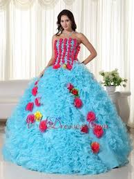 aqua quinceanera dresses quinceanera dress with pink flowers bodice and skirt like princess