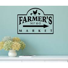 country wall decals for kitchen color the walls of your house country wall decals for kitchen farmers market vintage country kitchen wall decal by enchantingly