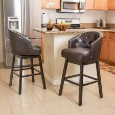 Leather Bar Chair Mix And Match Brown Leather Bar Stools For The Living Room