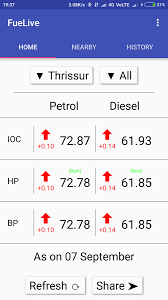 fuel live daily petrol diesel prices for india android apps on