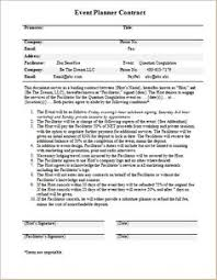 wedding planner contracts wedding planner contract sle templates hacks