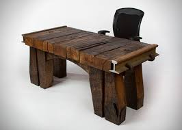 Rustic Wood Office Desk Timbertop Desk Is A Rustic Design Office Desk By Rail Yard Studios